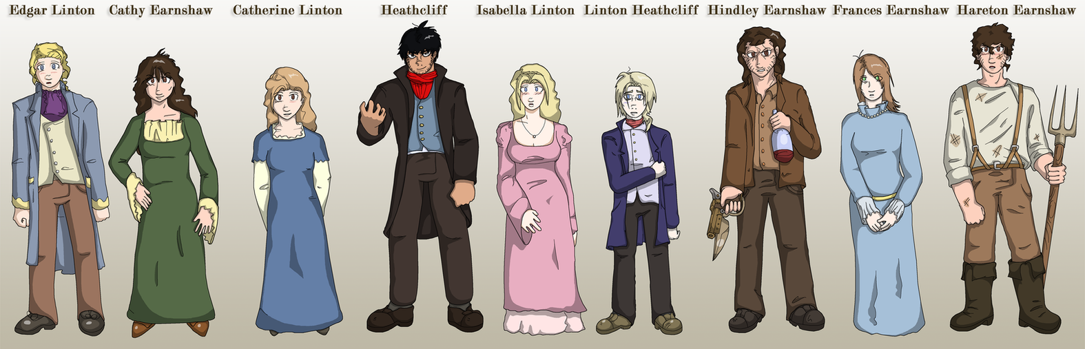 wuthering heights character designs by sregan on  wuthering heights character designs by sregan