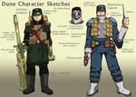 Dune character art - Atreides and Harkonnen