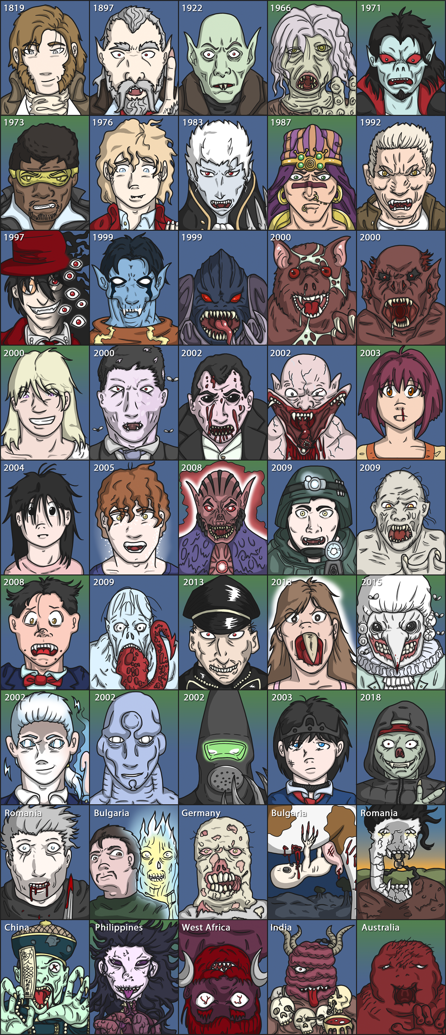 Vampire Supercut - character design