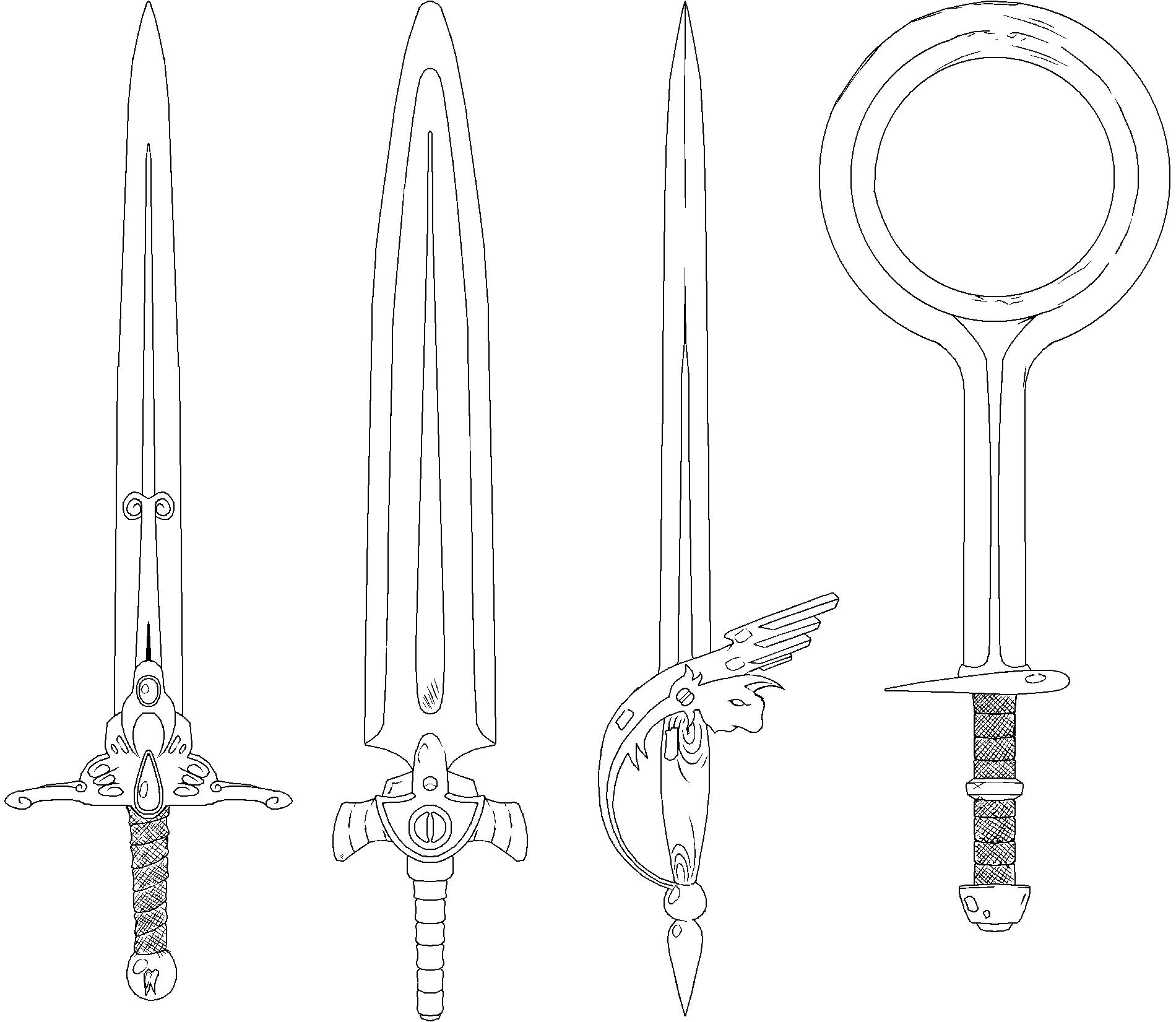 Fatm swords lineart 2 by sregan