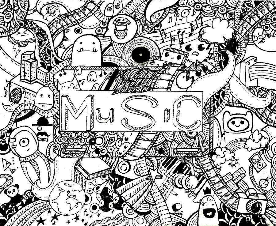 Doodle music by black hole paradox