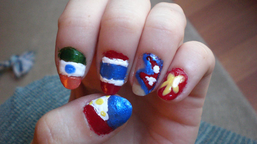 South Asia Flag Nail Art by Ginger-Curls ... - South Asia Flag Nail Art By Ginger-Curls On DeviantArt