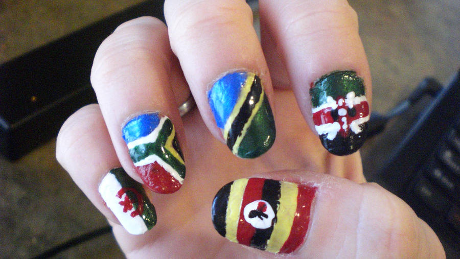 African Flag Nail Art by Ginger-Curls on DeviantArt