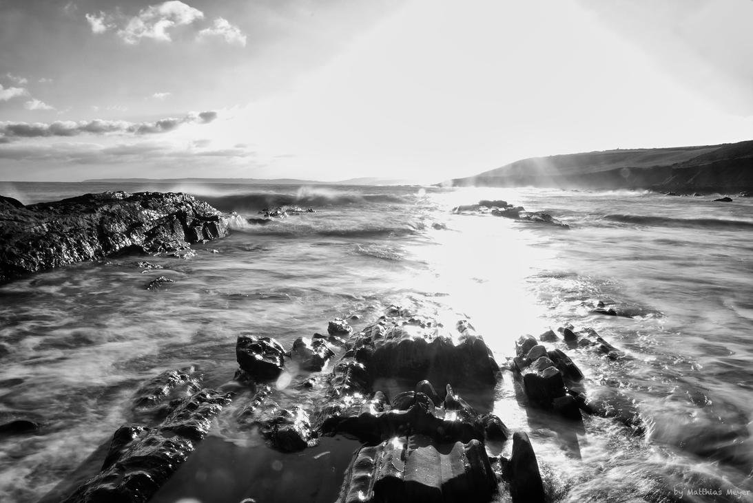Guileen Beach BW by The-BigGuy