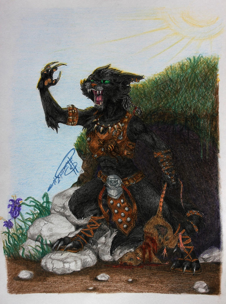 The Barbarian Cat by David-LaCroix