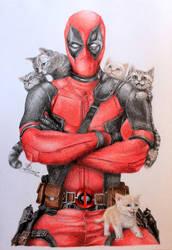 Deadpool commission by David-LaCroix