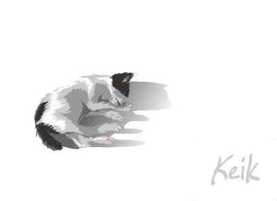 Sleeping Kitty by laneord