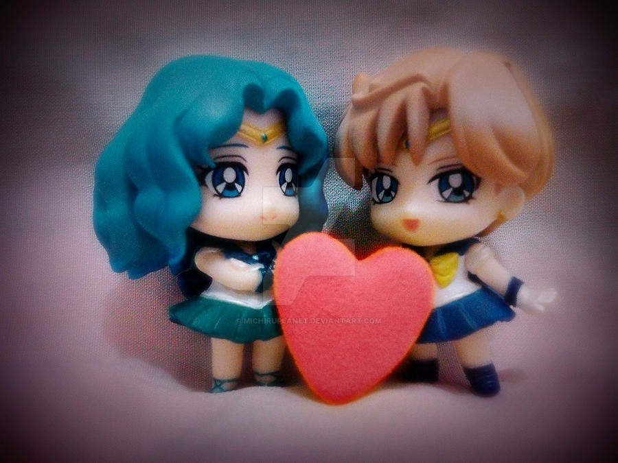 Sailor Neptune and Sailor Uranus Petite Chara by MichiruPLANET