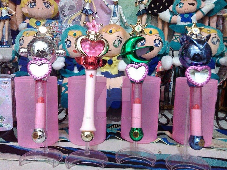 Sailor Moon Outer Senshi Liprods Gashapon Can Set3 by MichiruPLANET