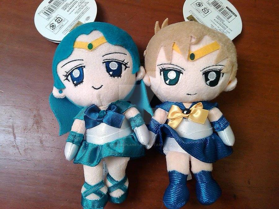 Plushies of Sailor Uranus and Sailor Neptune by MichiruPLANET