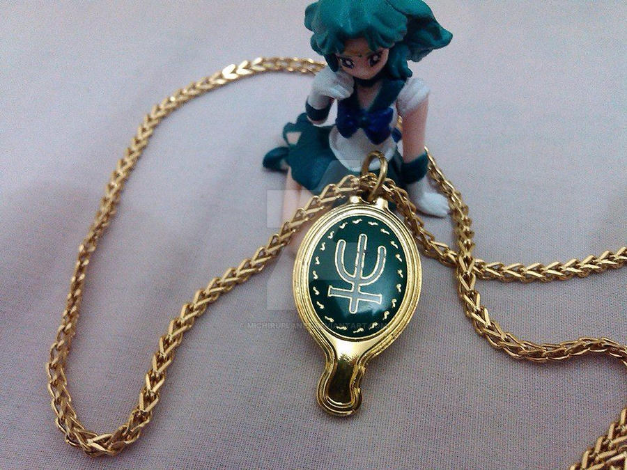 Sailor Neptune Desk top and Deep Aqua Mirror by MichiruPLANET