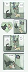 Cats vs Corgis by kozispoon