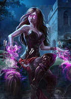 warlock by Asgerd-art