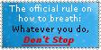 Keep Breathing Stamp by SHADOWofaSTRANGER