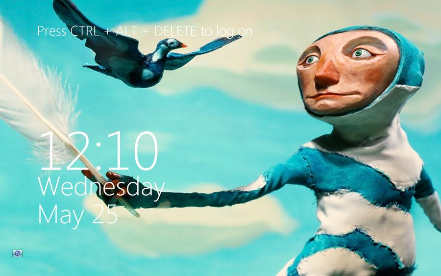 Metro Logon Clock For Windows7