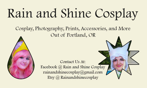 Rain and Shine Cosplay Business Card Design Two