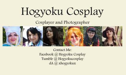 Hogyoku Cosplay Business Card Design One