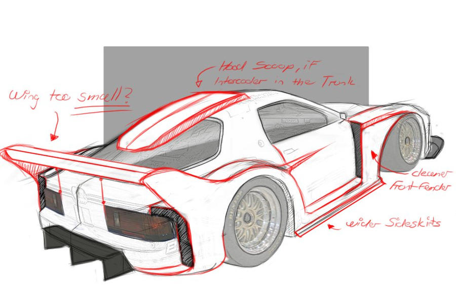 mazda rx7 fc3s sketch by lucastivanello on deviantart. Black Bedroom Furniture Sets. Home Design Ideas