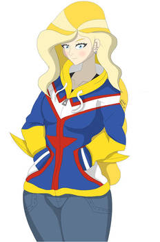 Sarah Whitney wearing A All Might Hoodie