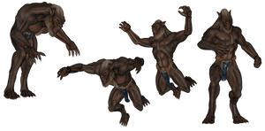 Beast Attack Poses