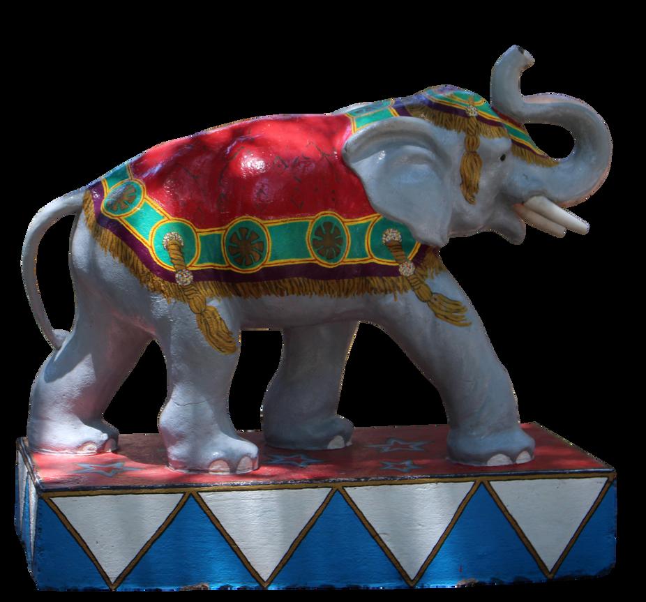Circus Elephant Statue by Nolamom3507