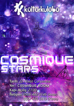 Cosmique Stars Party Poster
