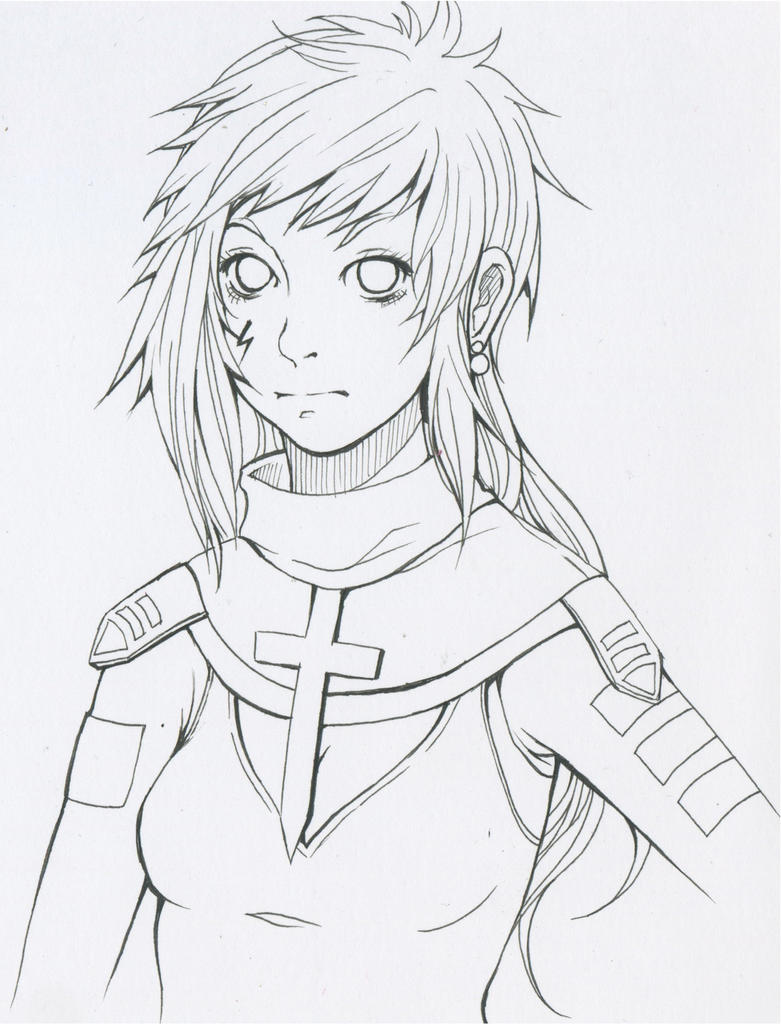 Line Art Earth : Claja commander from earth line art by chiakixs on