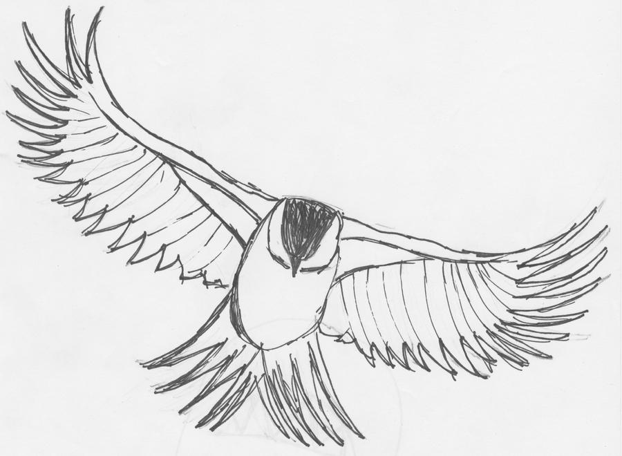 Birds flying away drawing - photo#22