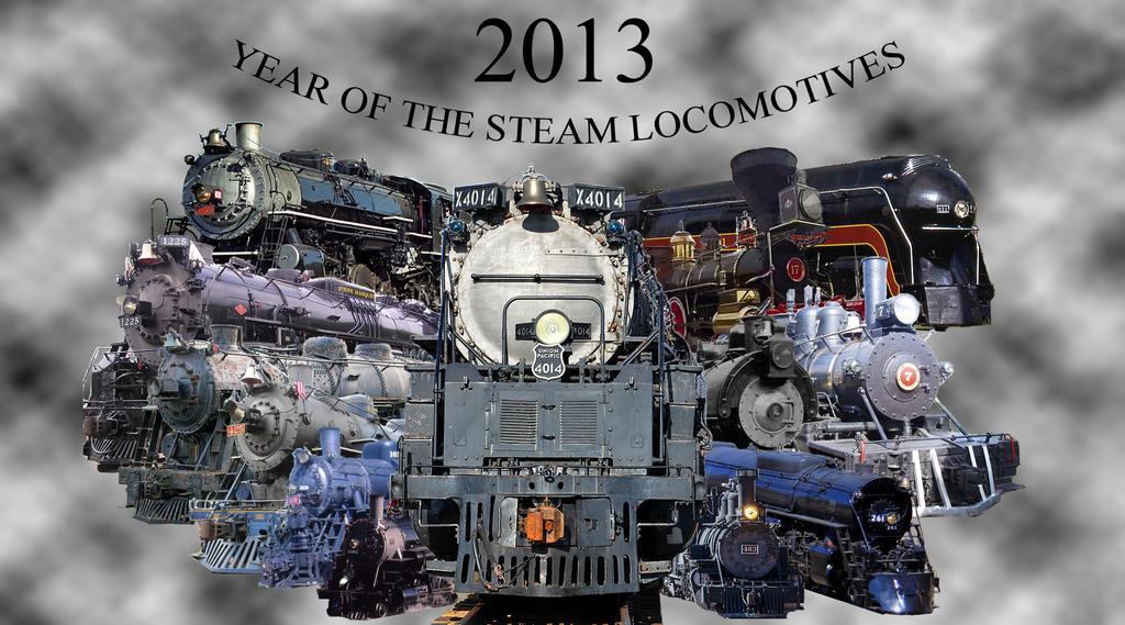 Steam Locomotives of 2013 by 736berkshire