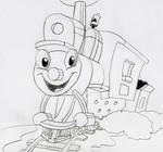 Casey Junior Drawing