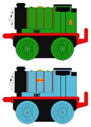 Thomas Mini Percy and Liz by 736berkshire