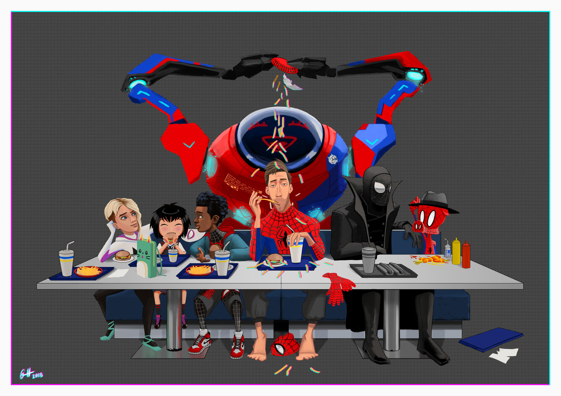 After work in the spider verse by gabrielhogberg