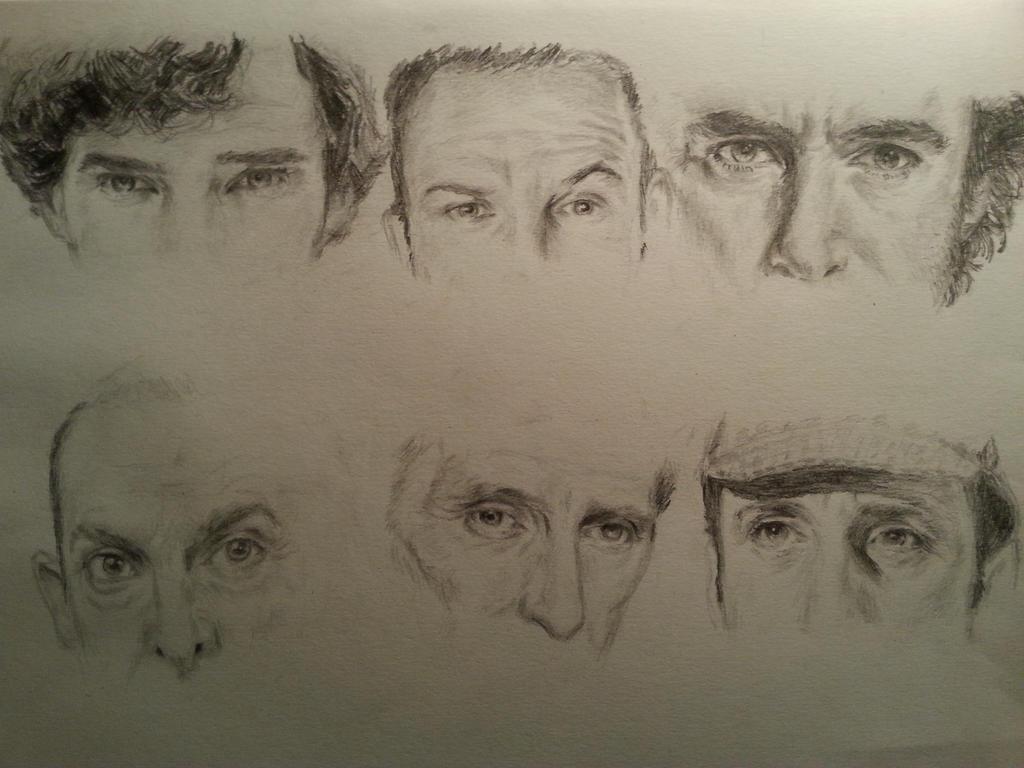Faces of Sherlock Holmes by Vanimelda4