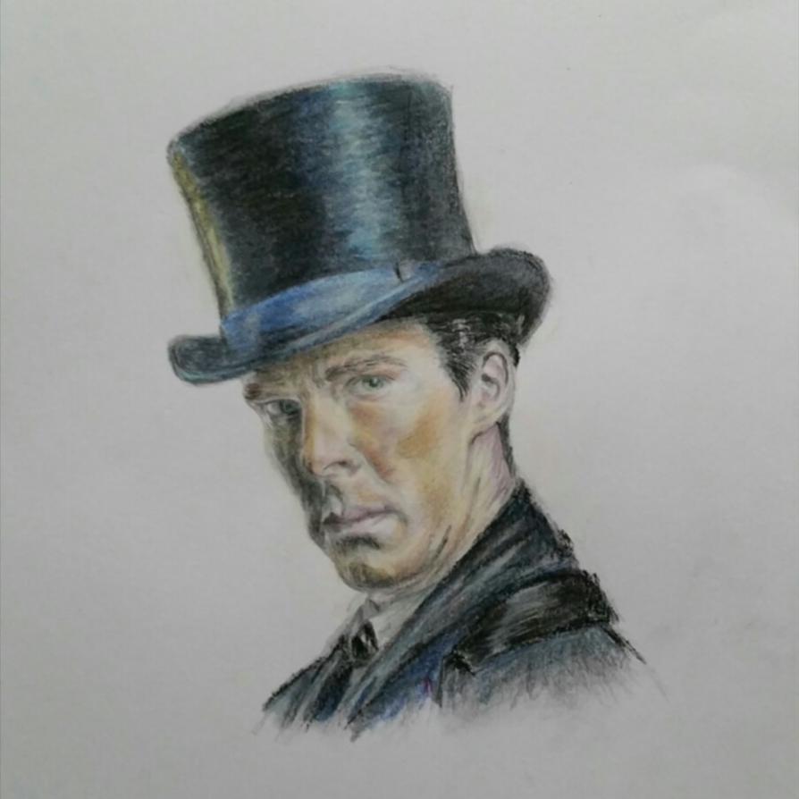 'Mr. Holmes' (pastel) by Vanimelda4