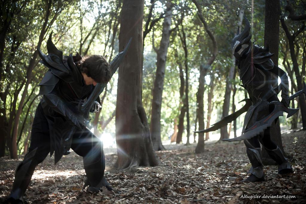 Skyrim cosplay - Daedric Armor 3 by altugisler