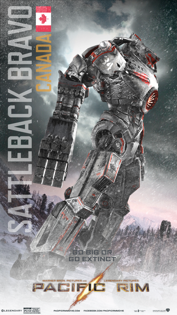 Pacific Rim Fan-made Jaeger: SattleBack Bravo by kah1jake ... Pacific Rim Jaeger Size