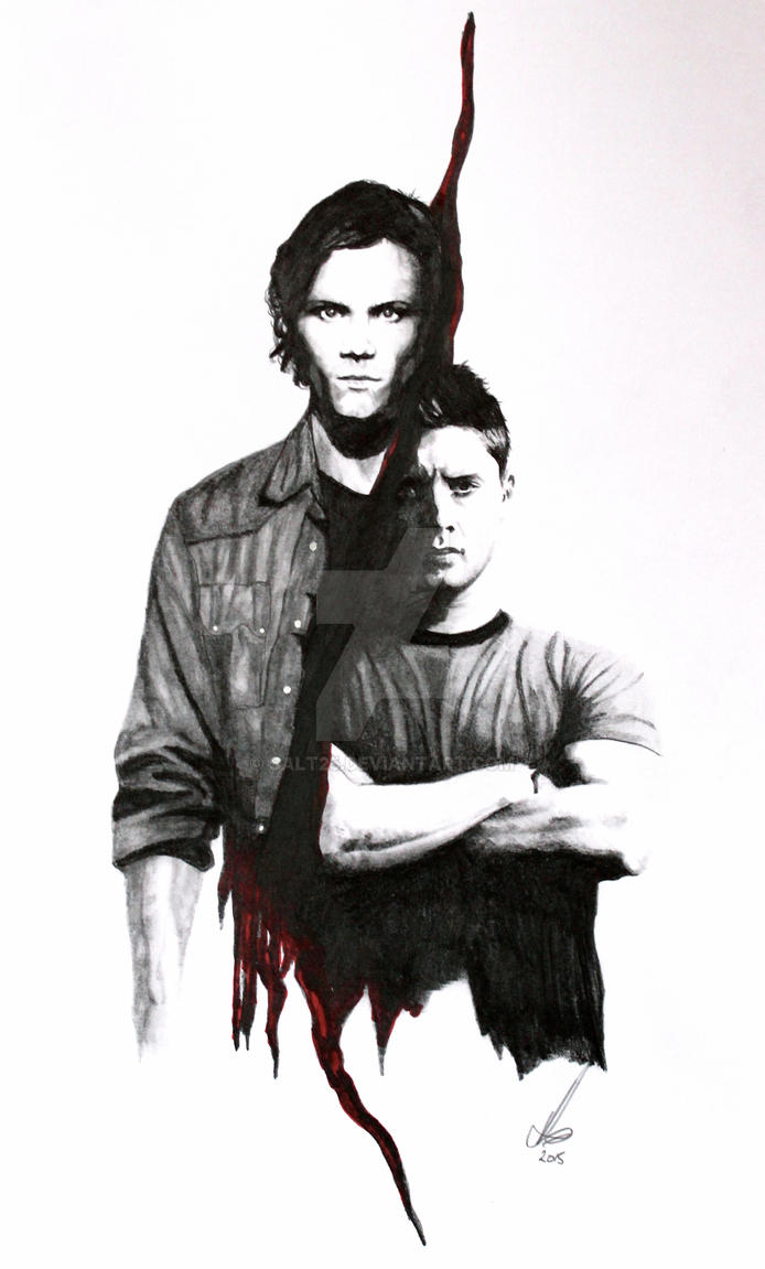Happy Halloween from the Winchesters by salt25