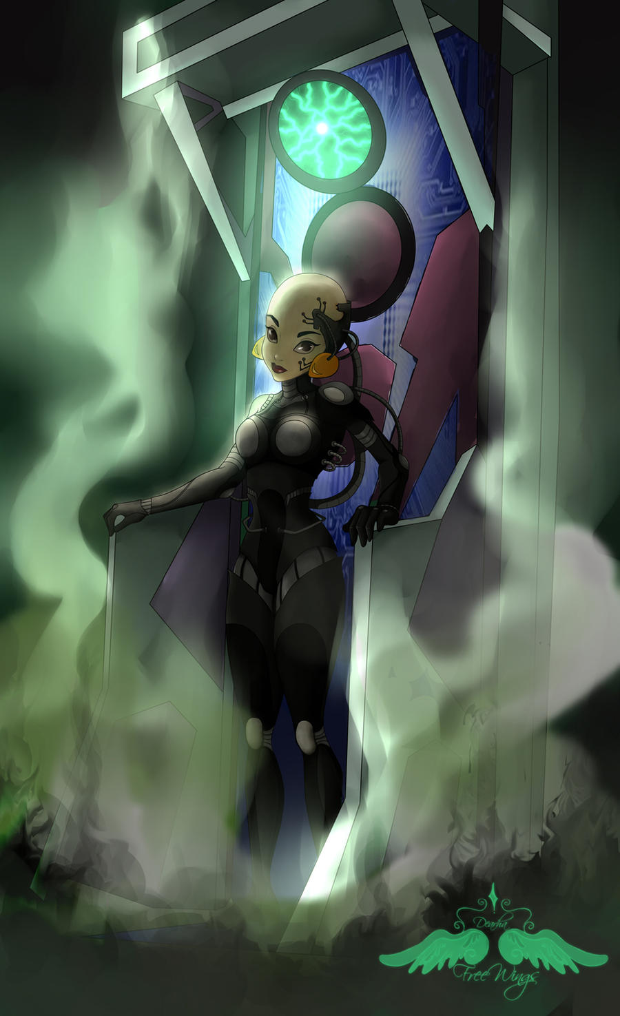 Commission: Jasmine as Borg by FreeWingsS on DeviantArt
