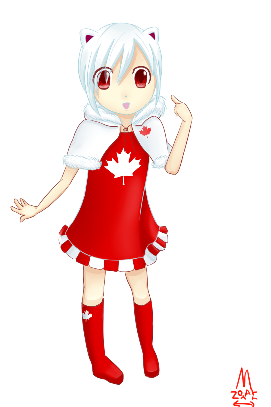 Canada Mascot by Minyatto