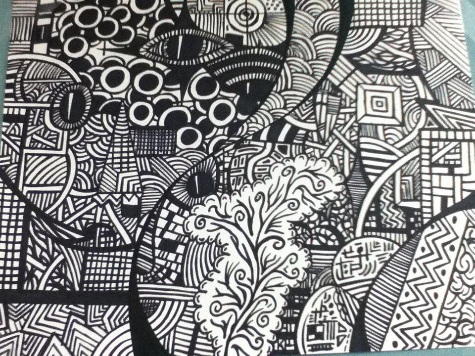 Abstract Sketch Art Wallpaper
