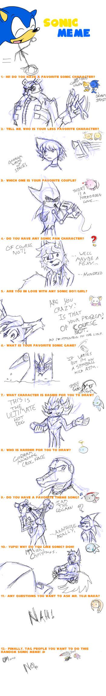 Sonic Meme of Boredom