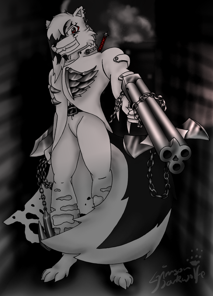 The Slayer : inks by CrimsonDarkwolfe