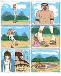 Girl vs Giant dude
