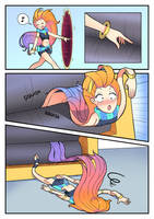 Zoe: the aspect of squishing - part 2 by DunbyKitsunee