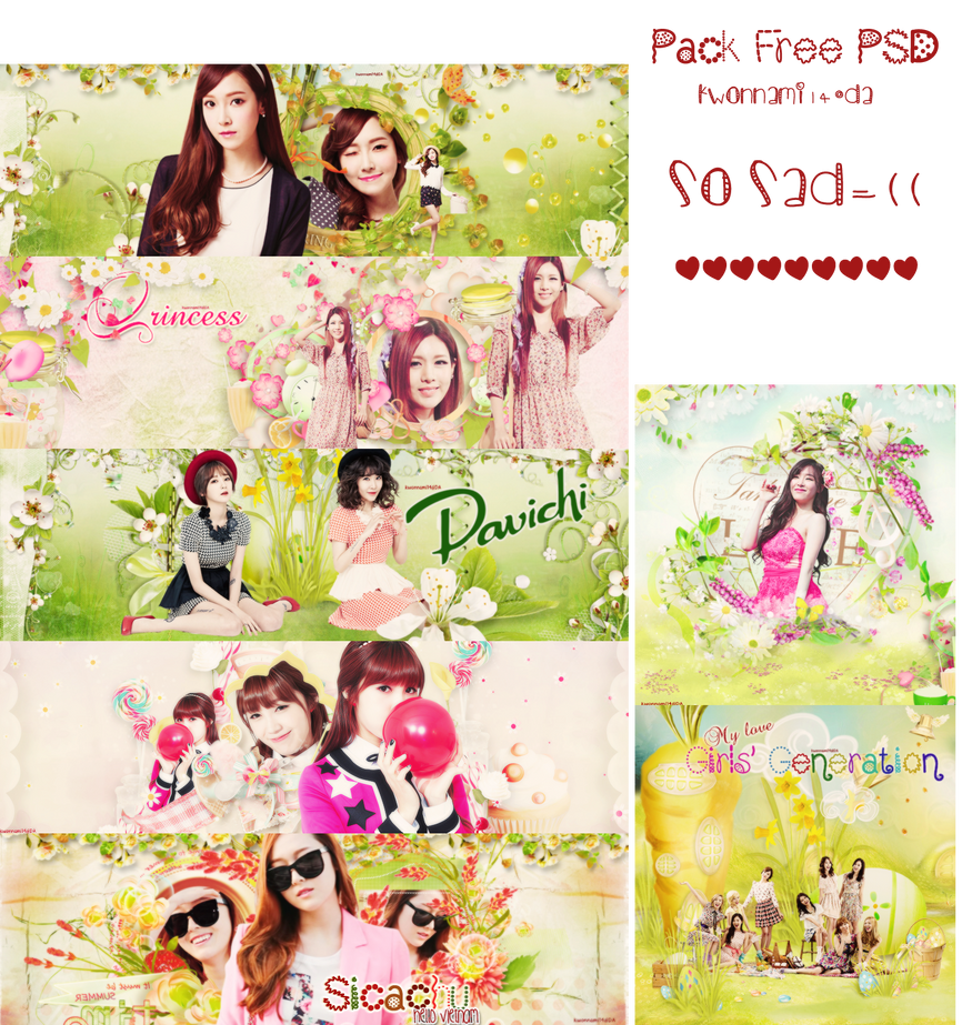 [Pack Free PSD] Good luck to me (o.o) by kwonnami14