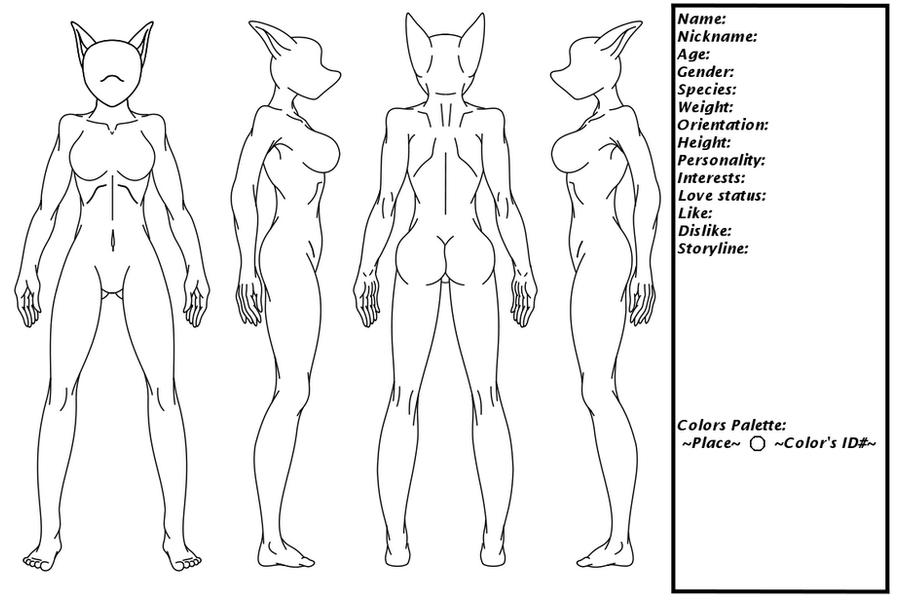 Female furry char. ref sheet by kevmg17