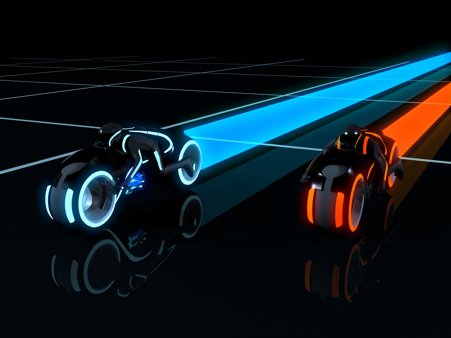 Image result for tron lightbike scene