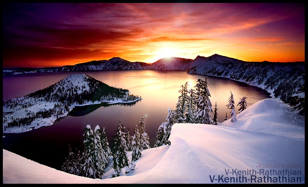 -Healing Visions- Crater Lake by V-Kenith-Rathathian