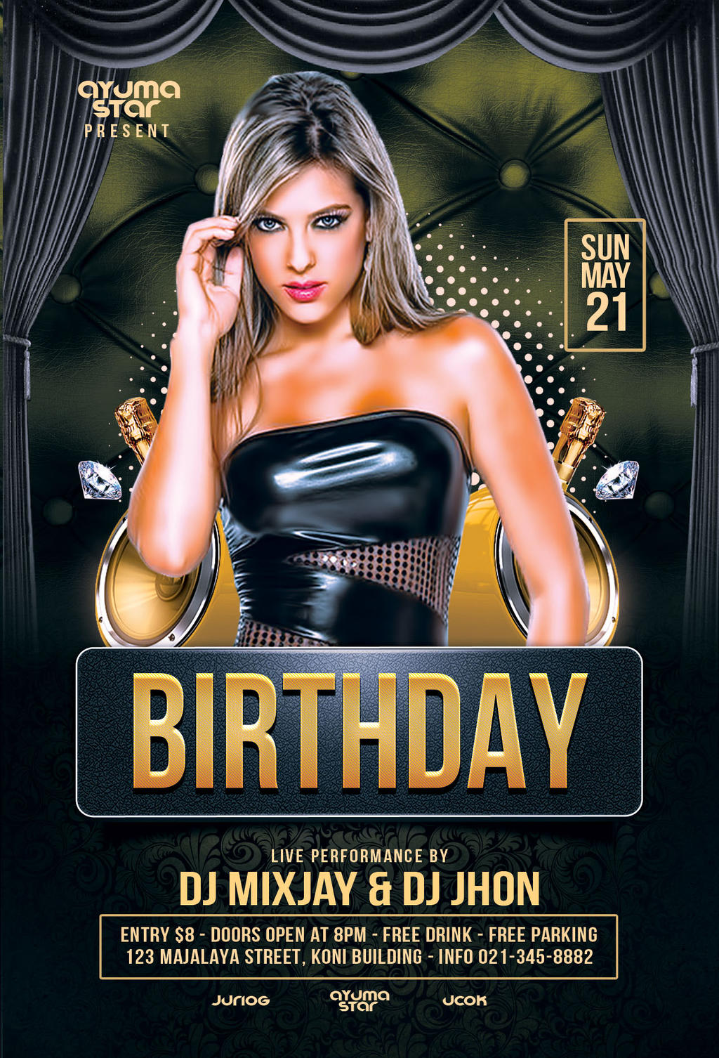 Birthday Flyer Template by ayumadesign on DeviantArt – Birthday Flyers Template