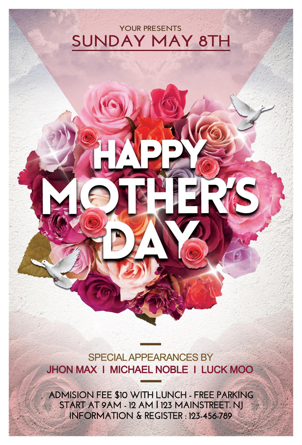 Mothers Day Flyer Template by ayumadesign on DeviantArt – Lunch Flyer Template